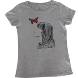 T-shirt with Butterfly and Women motives