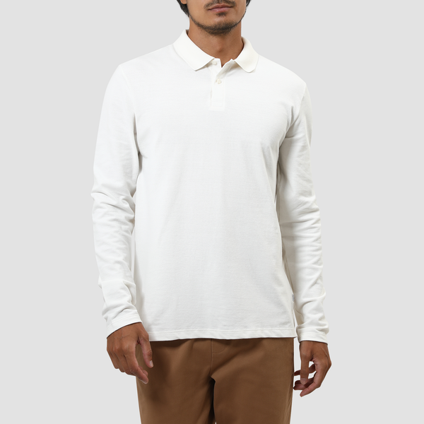 Polo Essencial Manga Longa Off White