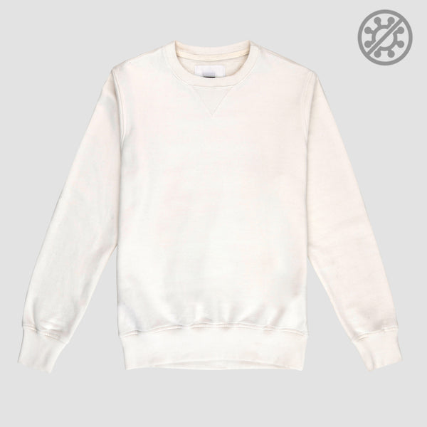 Blusa Moletom Gola C Antiviral Off White