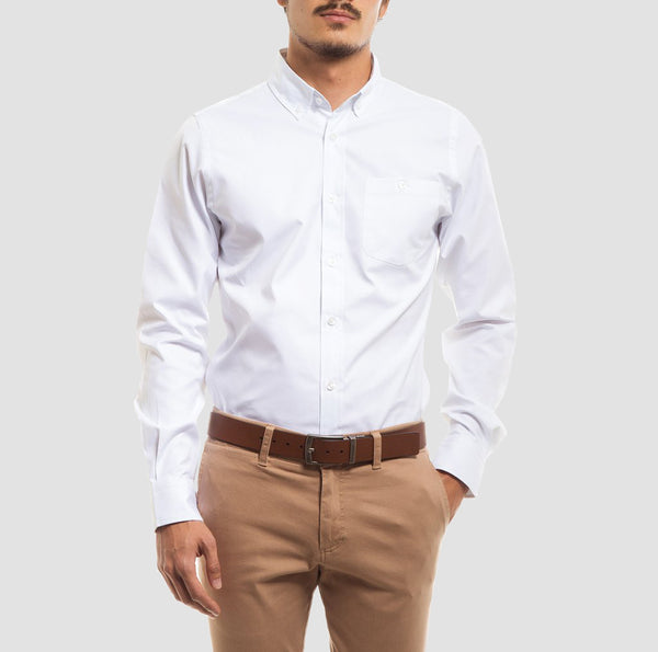 Kit Camisa Oxford Branco & Rosa | ORIBA