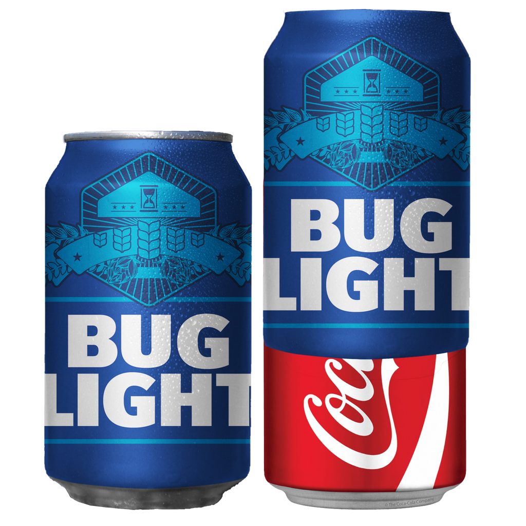 Bug Light Prank Beersy Silicone Sleeve Can Cooler