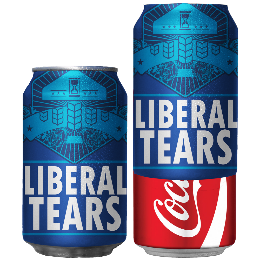 Liberal Tears Prank Beersy Silicone Sleeve Can Cooler