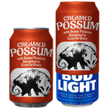Creamed Possum Beersy Silicone Sleeve Hide-a-Beer Can Cooler