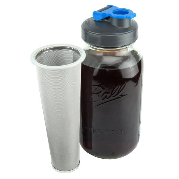 Cold Brew Coffee Maker with Flip Cap Lid - 2 Quart