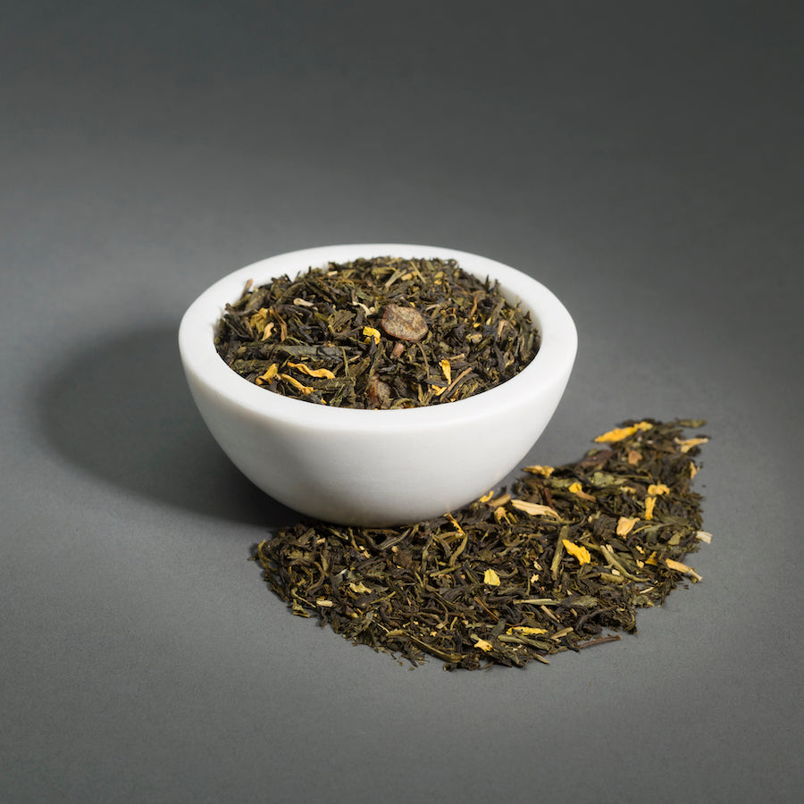 Peaches & Cream Green Tea - Loose Leaf, 3oz Bag