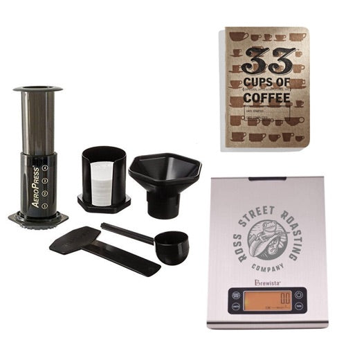 Coffee Snob Starter Kit - AeroPress, Scale, & Journal