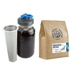 2QT Cold Brew Coffee Maker + 2LB Bohemian Gothic - Bundle & Save 10%