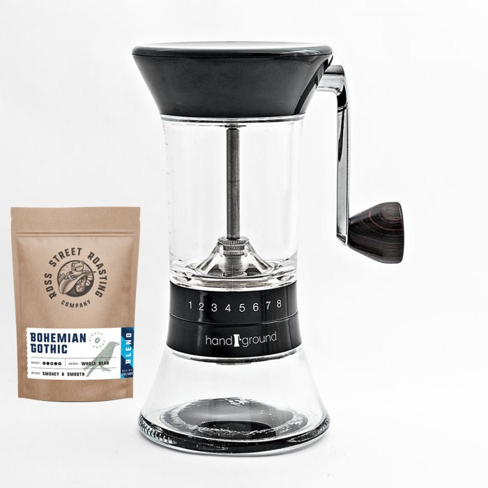 Handground - Precision Manual Burr Grinder (Plus FREE 5oz bag of RSR coffee)