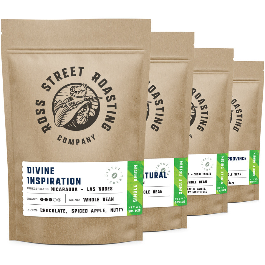 Flight of Fancy: Single Origin coffees, Four 5oz bags