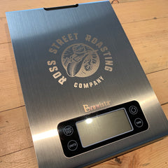 Smart Brew Coffee Scale with Timer & RSR Logo