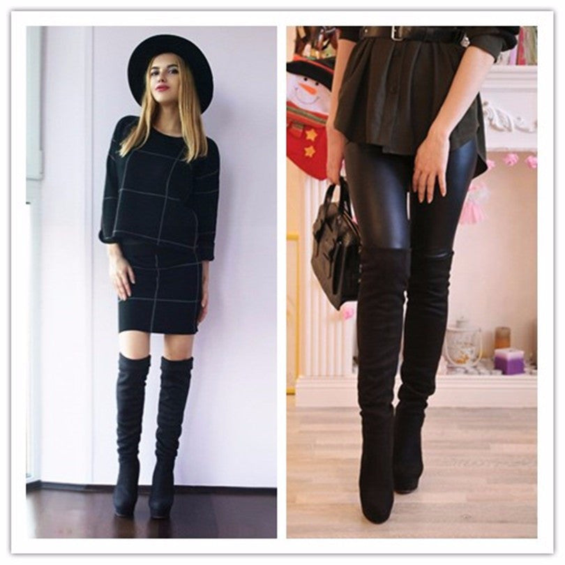 CRISTINA PLATFORM OVER THE KNEE BOOTS