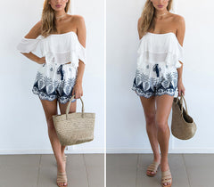 LEXI HIGH WAISTED BOHO SHORTS