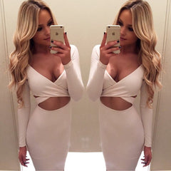 TWO PIECE BANDAGE DRESS