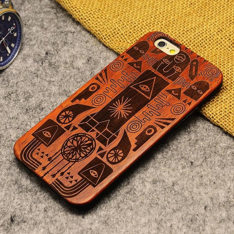 Luxury Bamboo Phone Case For Iphone 5 5S 6 6S 6Plus 6S Plus 7 7Plus