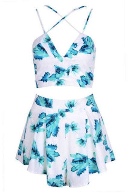 TWO PIECE FLORAL PLAYSUIT