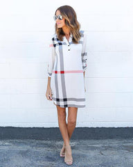 Plaid Long Robe Dress