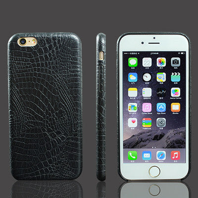 Crocodile Snake Print Leather Case for iphone 7 6 6s Plus 5