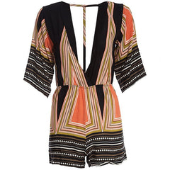 Deep V True Boho  Romper