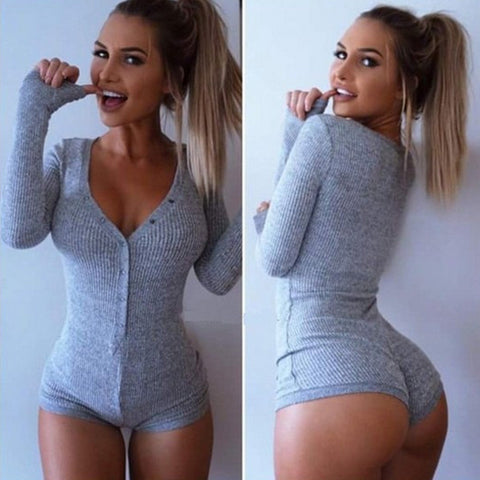 V Neck Bodysuit