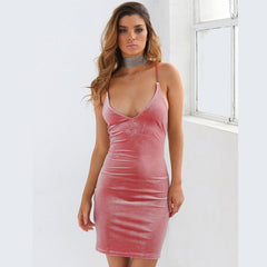 VELVET CRUSHED PARTY DRESS