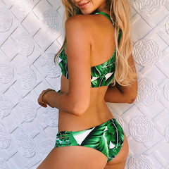JUNGLE HALTER TOP TWO PIECE BIKINI
