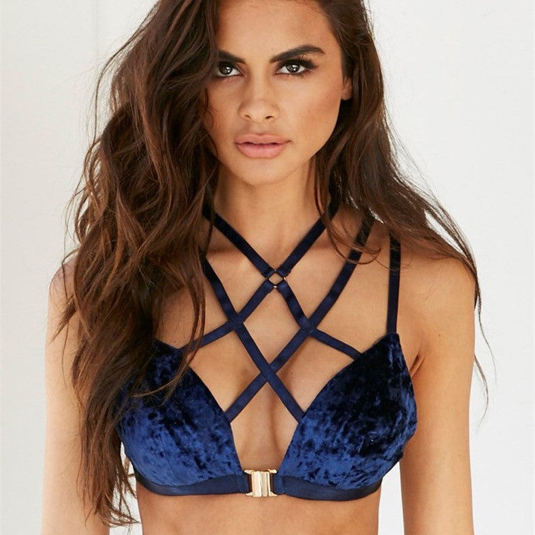 VELVET CROSS BRA