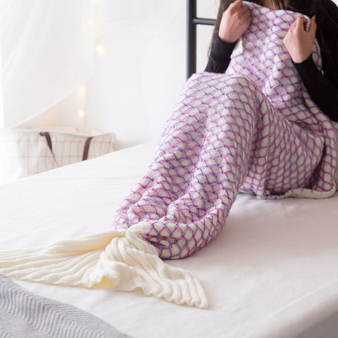 Purple Essence Colors Mermaid Blankets