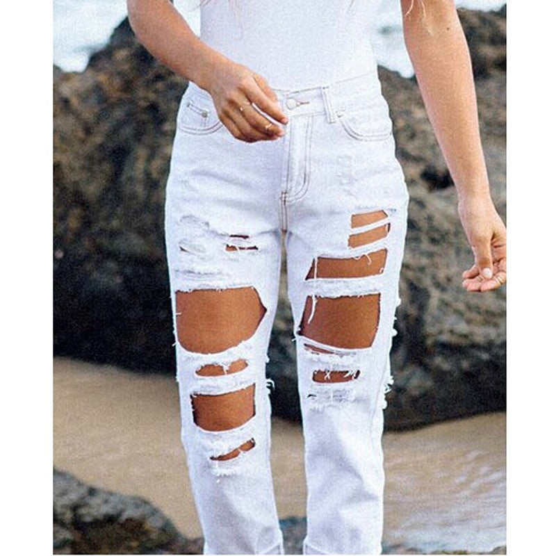 WASHED OUT DISTRESSED DENIM