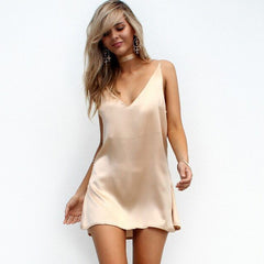 Kiss Me Choker V Neck Satin Slip