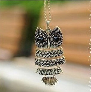 Wise Owl Pendant Necklace