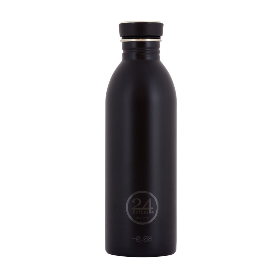 24Bottles - Urban Bottle juomapullo 500 ml - Musta