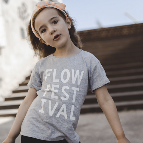 TRE X Flow - White Logo Kids t-shirt - Grey