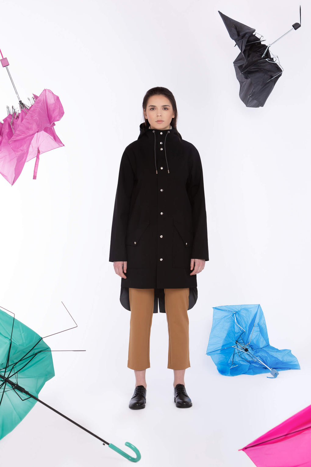 Ducktail Raincoats - Sadetakki unisex - Musta