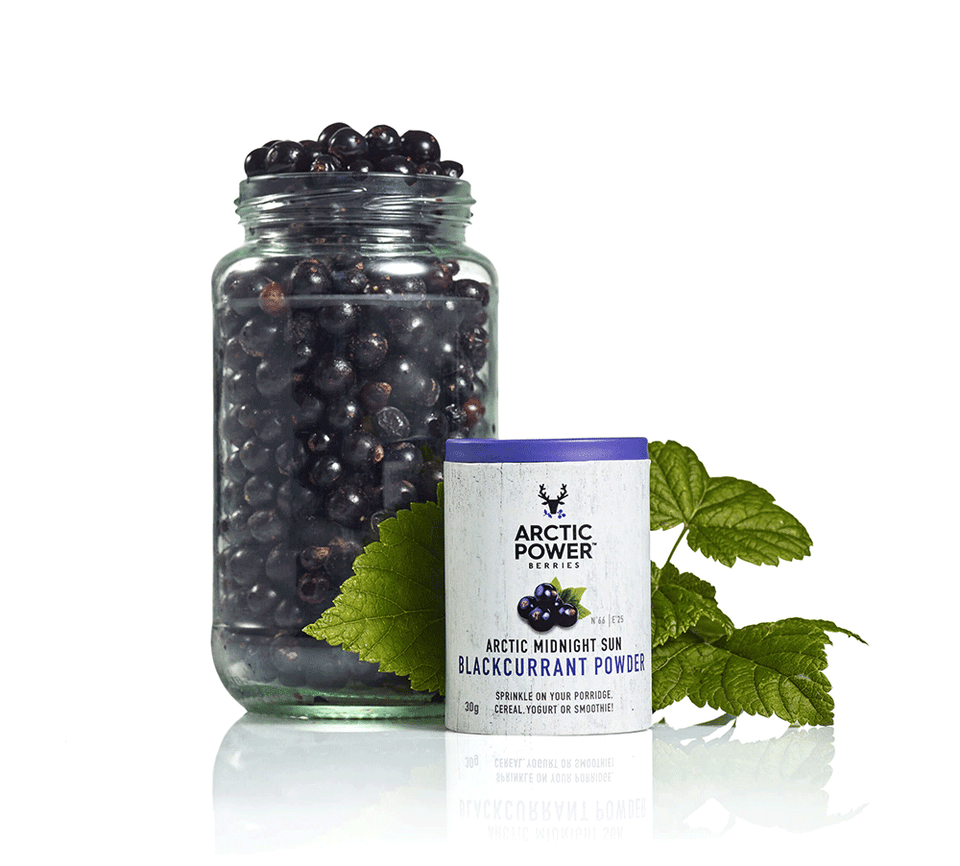 Arctic Power Berries - Marjajauhe 30 g - Mustaherukka