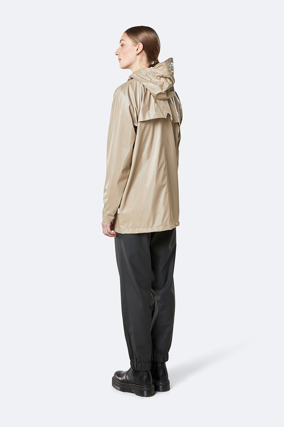 Rains - 1267 - Short Coat sadetakki - Shiny Beige