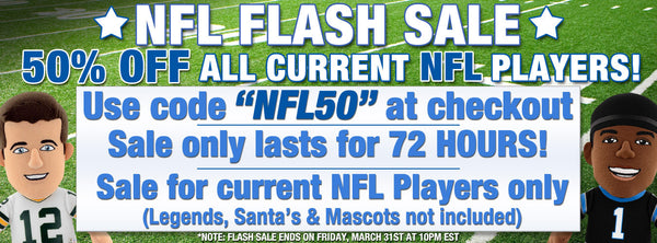 3 Day NFL Flash Sale: 50% Off Current Players!