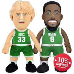 "Boston Celtics Bundle: Larry Bird and Kemba Walker 10"" Plush Figures"