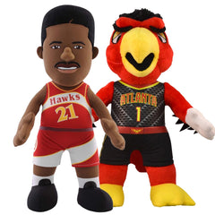 "Atlanta Hawks® Dynamic Duo Bundle Harry The Hawk & Dominique Wilkins 10"" Plush Figures"