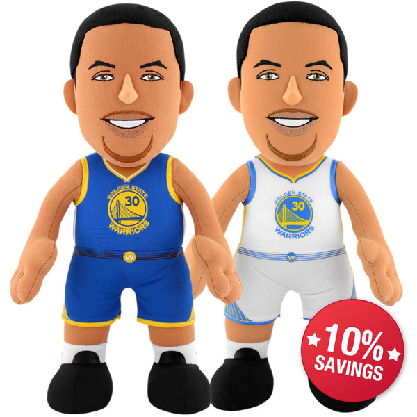 "Golden State Warriors® Dynamic Duo - Steph Curry Icon and Association Uniform 10"" Plush Figures (10% Savings)"