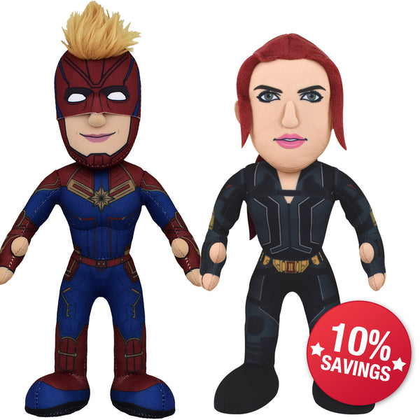 "Marvel Plush Figure Bundle: Captain Marvel & Black Widow 10"" Plush Figures (10% Savings)"