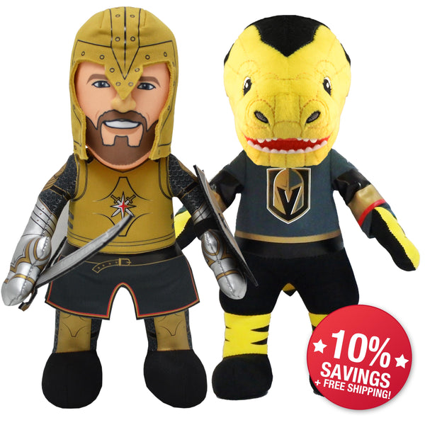"Vegas Golden Knights® Dynamic Duo ""The Knight"" & Chance 10"" Plush Figure-PRESELL SHIPS 1-20"