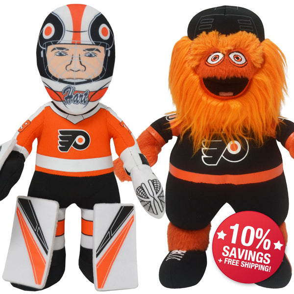 "Philadelphia Flyers Bundle: Carter Hart & Gritty 10"" Plush Figures (10% Savings)"