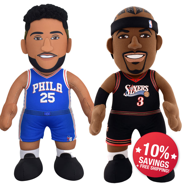 "Philadelphia 76ers Bundle: Ben Simmons & Allen Iverson 10"" Plush Figure (10% Savings)"