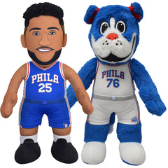 "Philadelphia 76ers Bundle: Franklin and Ben Simmons 10"" Plush Figures (10% Savings)"