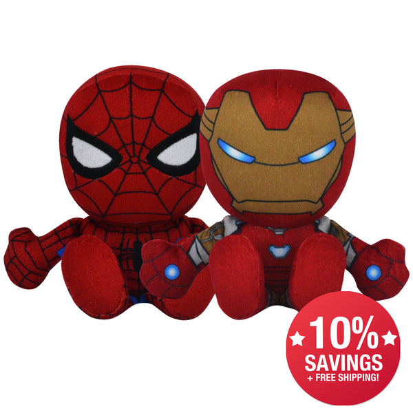 Marvel Kuricha Bundle: Spider-Man and Iron Man Kuricha Plushies (10% Savings)