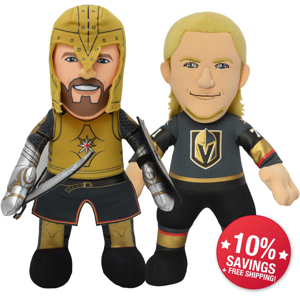 "Vegas Golden Knights® Dynamic Duo ""The Knight"" & William Karlsson 10"" Plush Figure-PRESELL SHIPS 1-20"