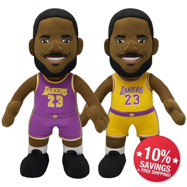 "Los Angeles Lakers Bundle: LeBron James 10"" Plush Figures"