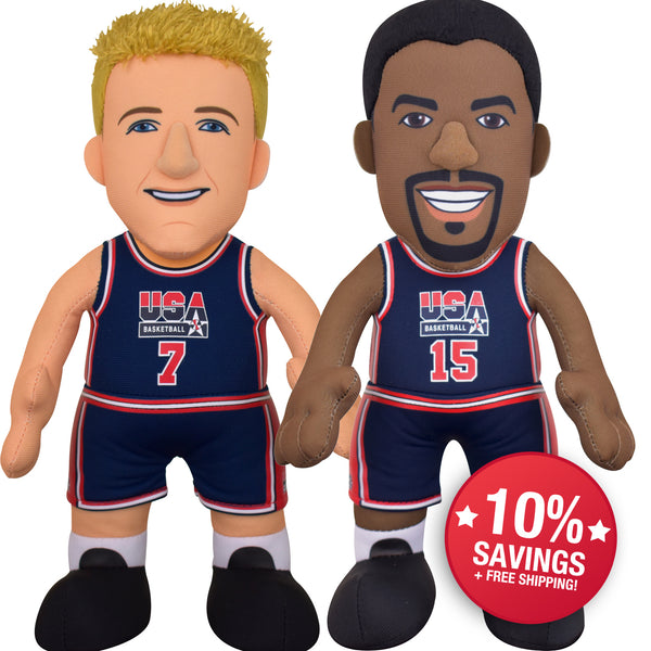 "USA Basketball Bundle- Magic Johnson and Larry Bird 10"" Plush Figures (10% SAVINGS)"
