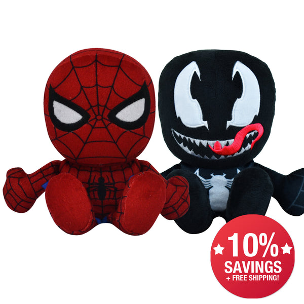 Marvel Kuricha Bundle: Spider-Man and Venom Kuricha Plushies (10% Savings)
