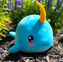 "Bleacher Creatures Kuricha 6"" Narwhal Sitting Plush - Soft Chibi Inspired Toy"